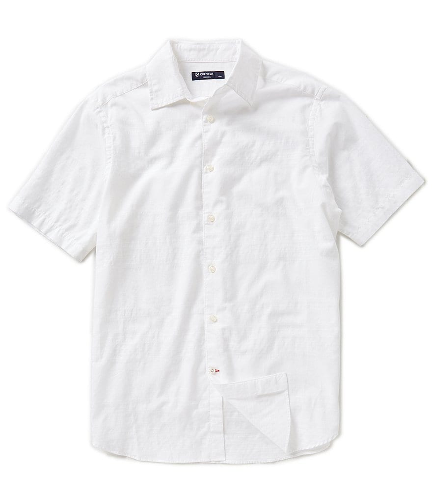 Cremieux Short-Sleeve Horizontal Stripe Woven Shirt