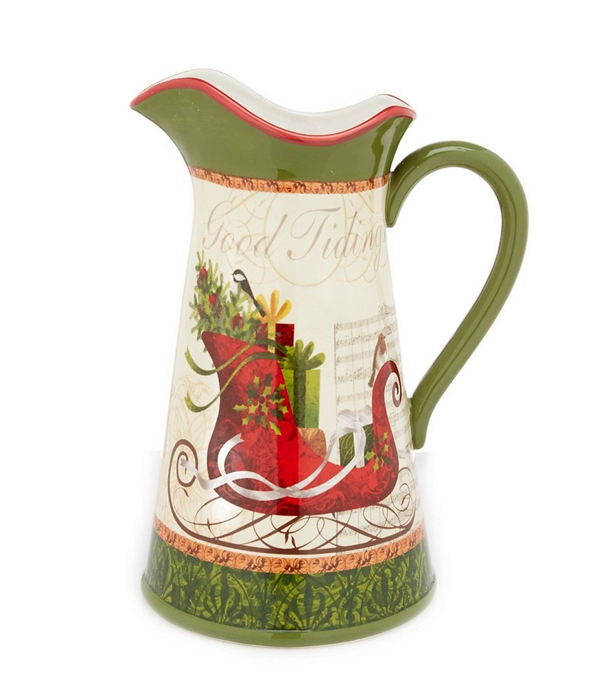Certified International Winter Garden Sleigh Pitcher