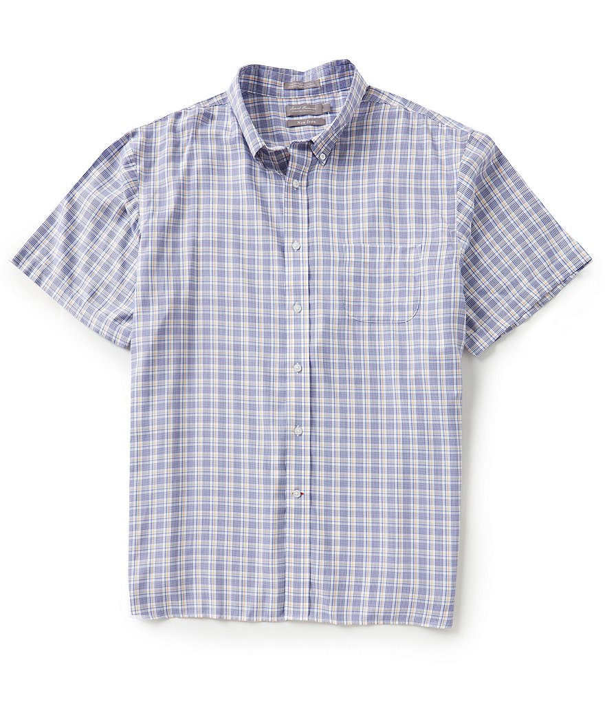 Daniel Cremieux Signature Short-Sleeve Non-Iron Windowpane Woven Shirt