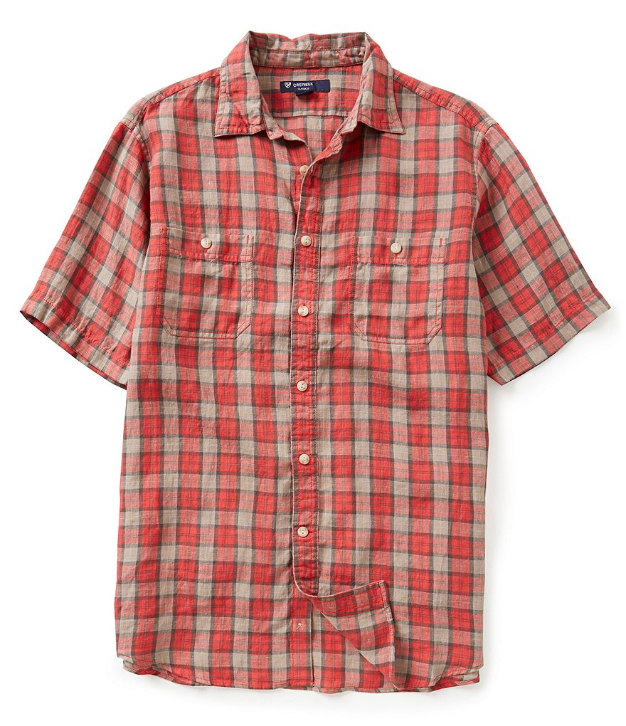 Cremieux Long-Sleeve Glen Plaid Woven Shirt