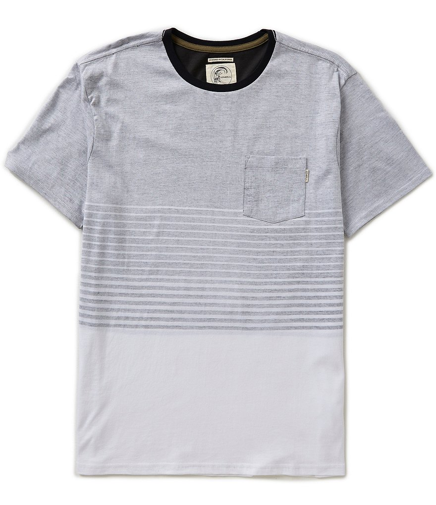 O´Neill Nova Colorblocked/Horizontal-Striped Crewneck Tee