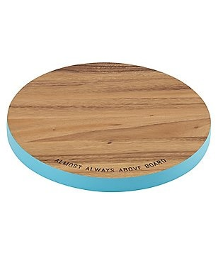 kate spade new york All in Good Taste Round Acacia Cutting Board