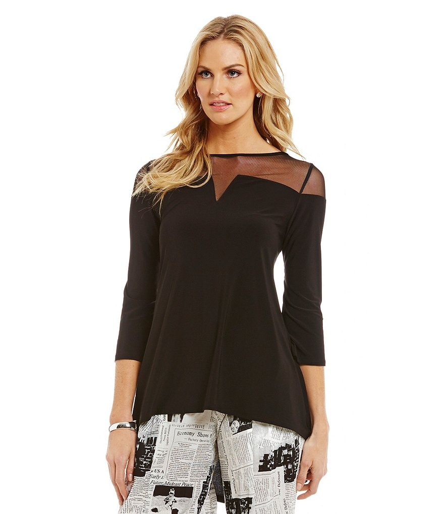 IC Collection Mesh Shoulder Top