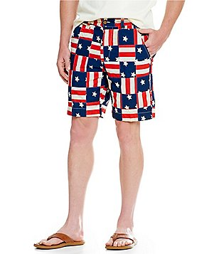 Vintage 1946 Snappers Americana Patch-Print Shorts