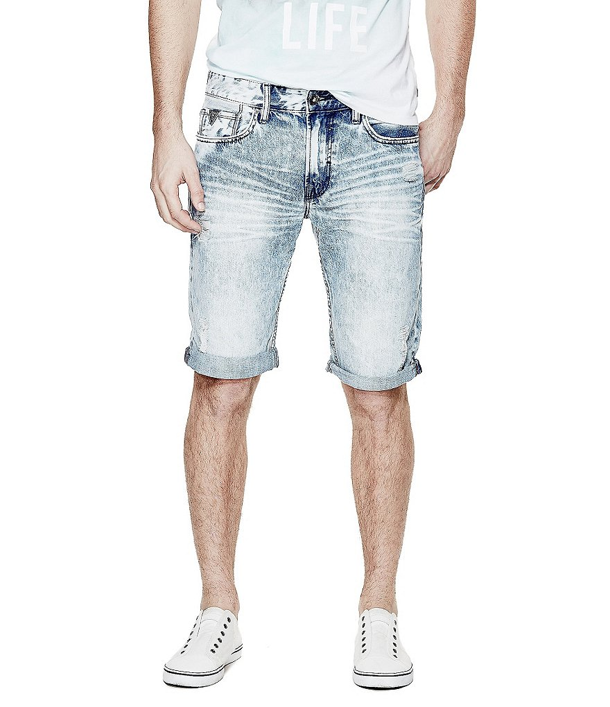 Guess Denim Rolled Shorts
