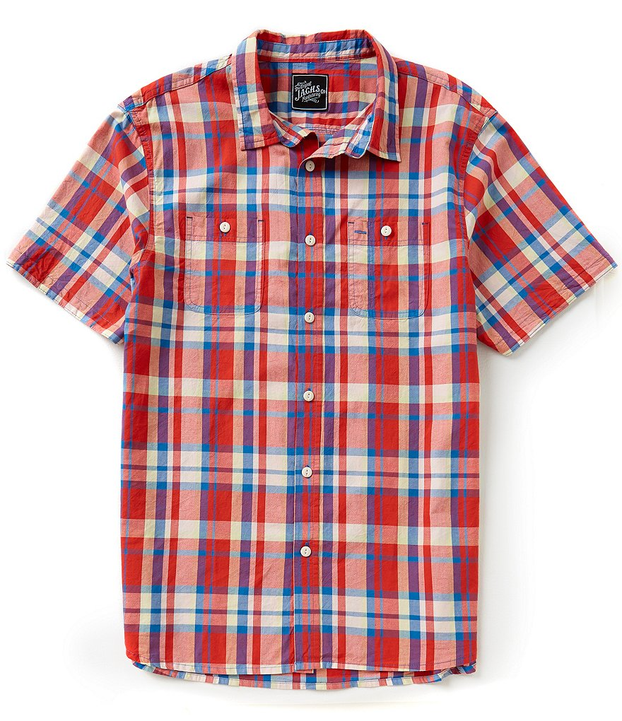 J.A.C.H.S. Manufacturing Co. Short-Sleeve Plaid Sportshirt