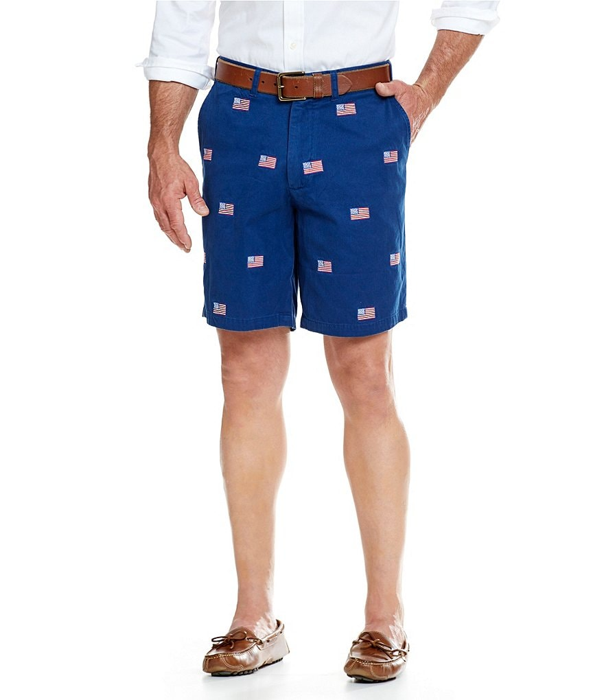 Castaway Nantucket Island Cisco American Flag Flat-Front Shorts