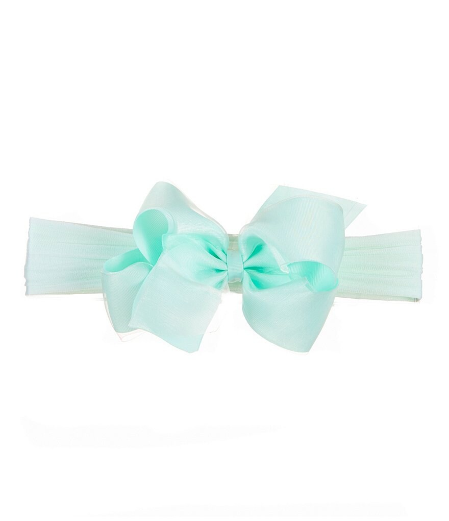 Starting Out Grosgrain Organza Overlay Bow Headband