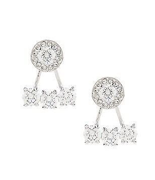 Swarovski Attract Light Round Pierced Earring Jackets