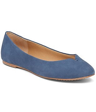 Lucky Brand Finorah Leather Almond Toe Slip-On Flats
