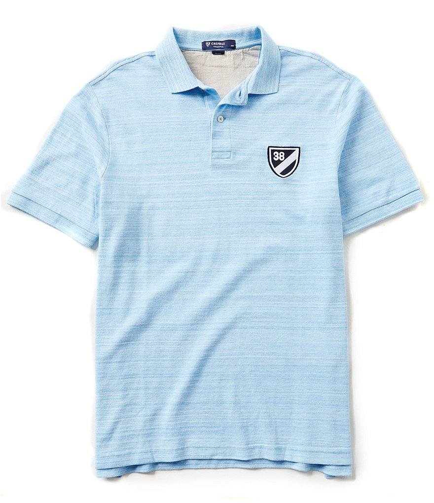 Cremieux Short-Sleeve Space Dye Pique Logo Polo Shirt