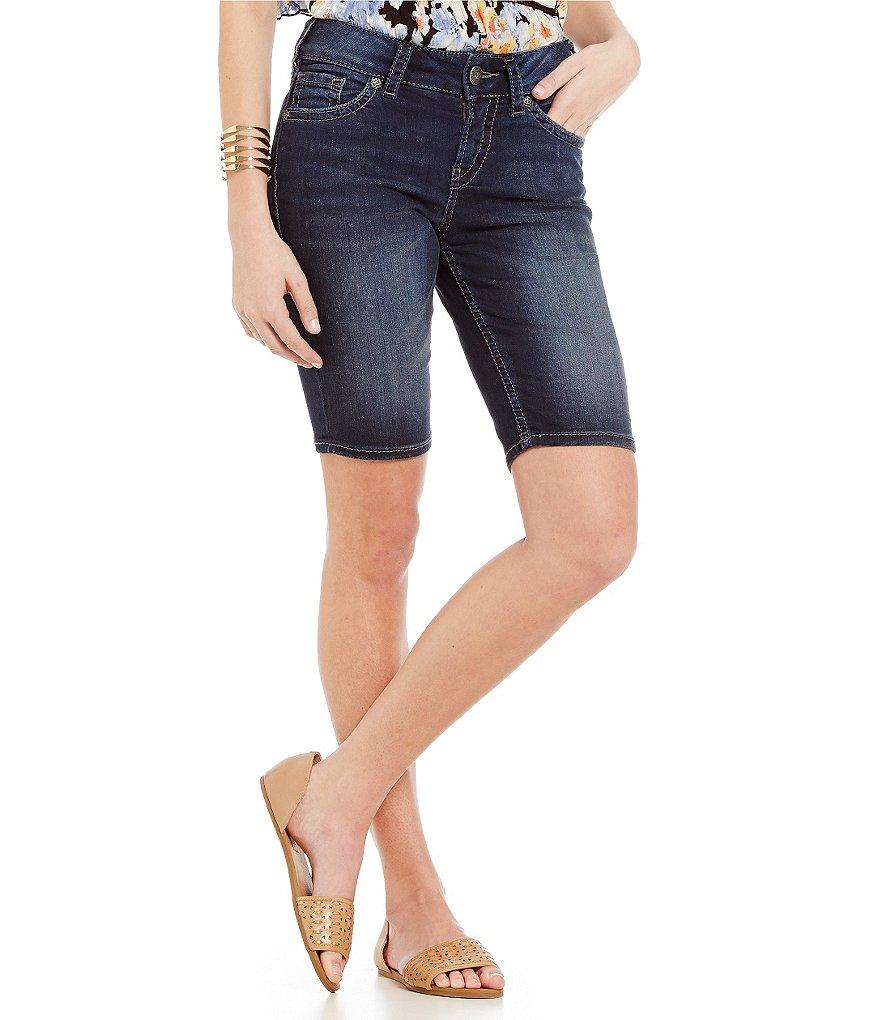Silver Jeans Co. Suki Mid Denim Bermuda Shorts
