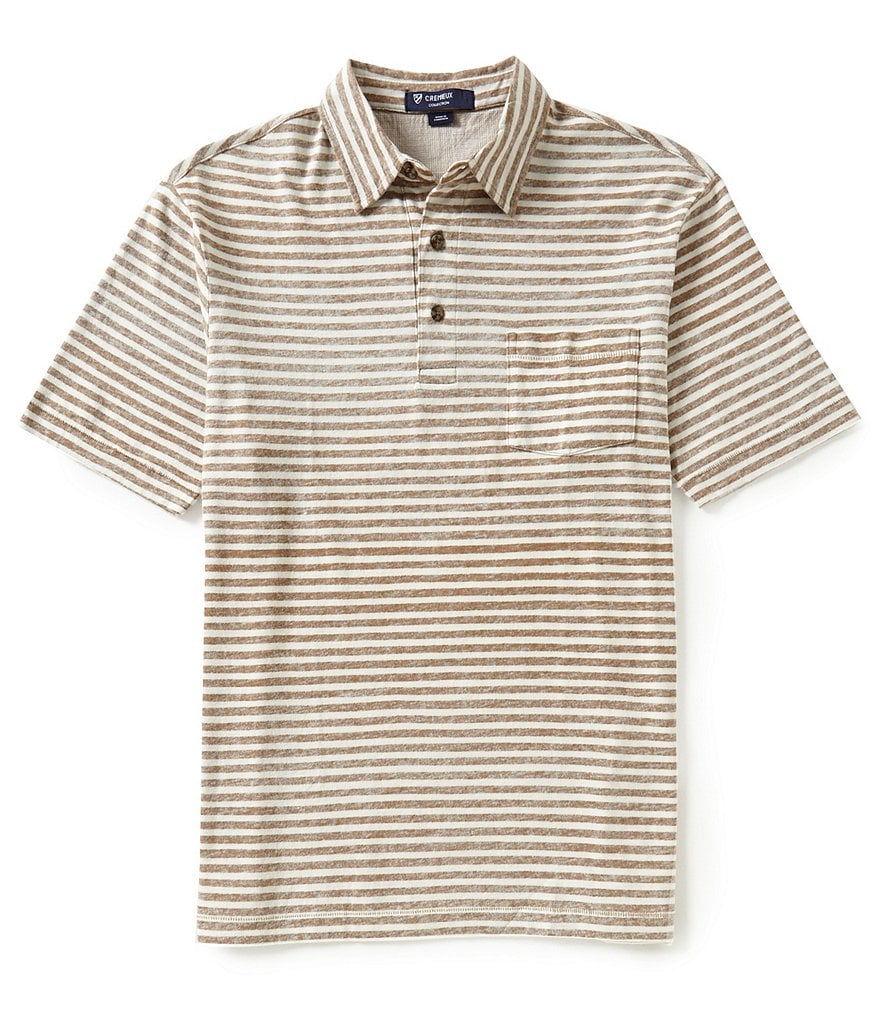 Cremieux Short-Sleeve Reversible Horizontal Stripe Polo Shirt