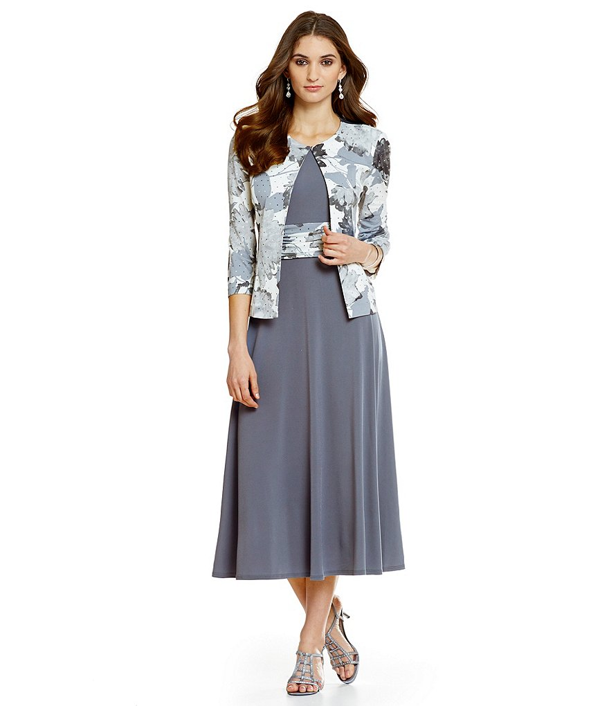 Jessica Howard Petite Printed Jacket Dress