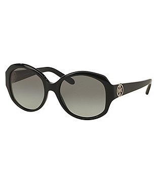 Tory Burch Modern Oversized Round Gradient Sunglasses