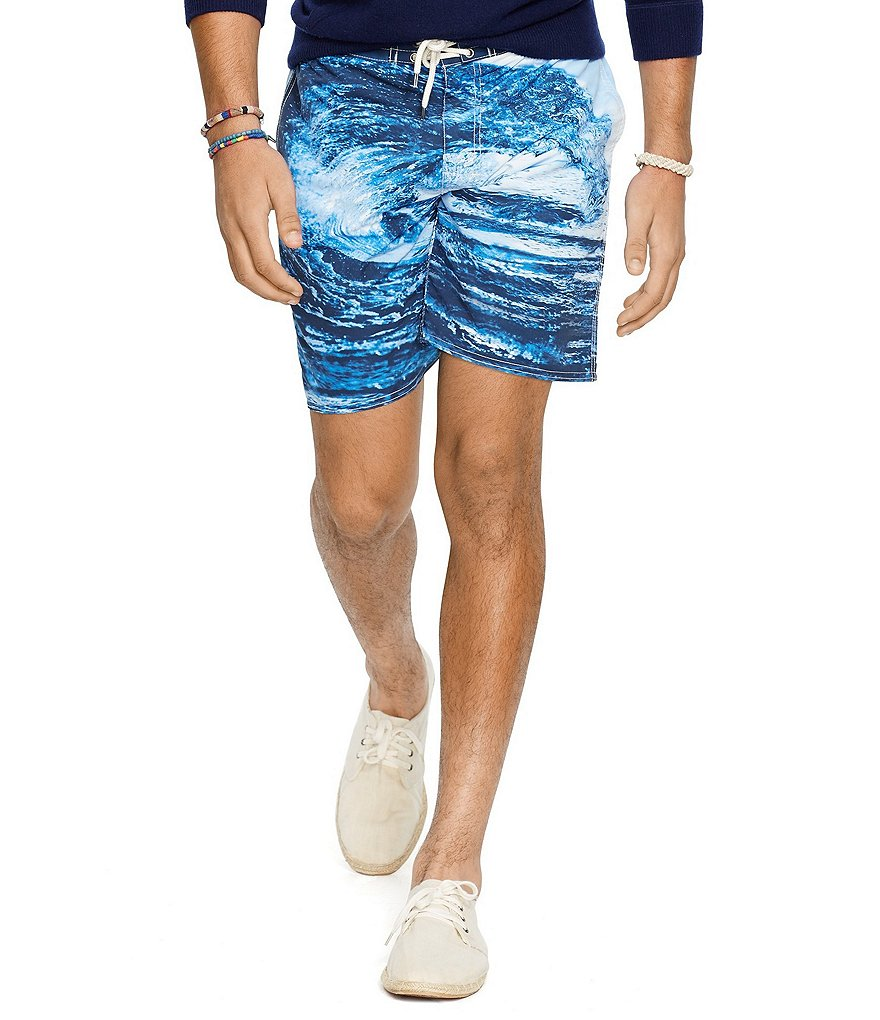 Polo Ralph Lauren Printed Palm Island Swim Trunks