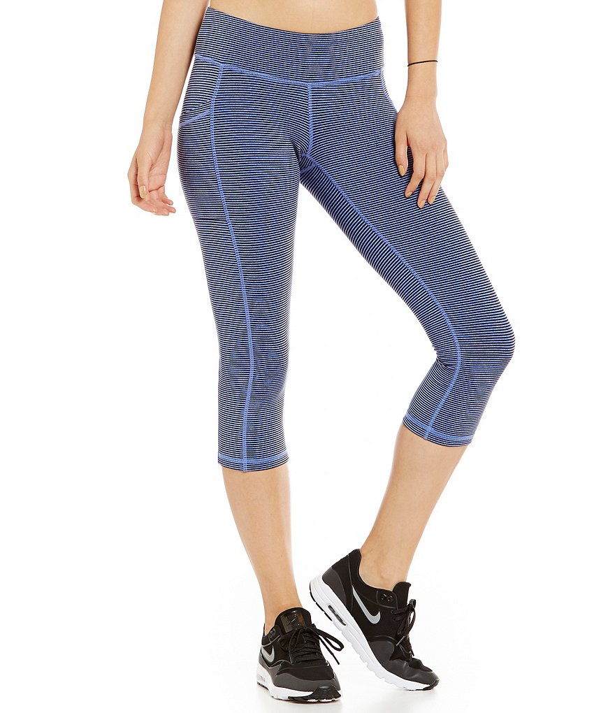 Lucy Activewear Striped Pocket Capri Legging