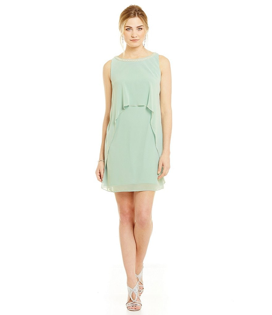 S.L. Fashions Bead-Neck Popover Dress