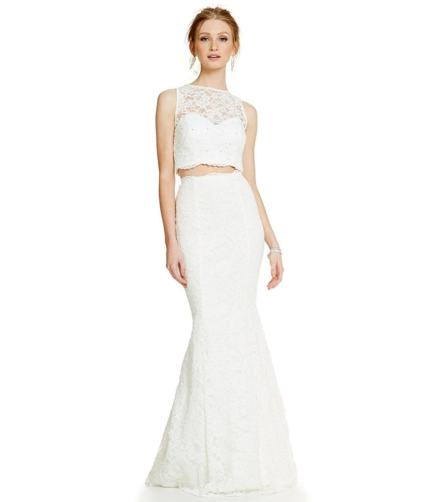 Xscape Lace Two-Piece Gown