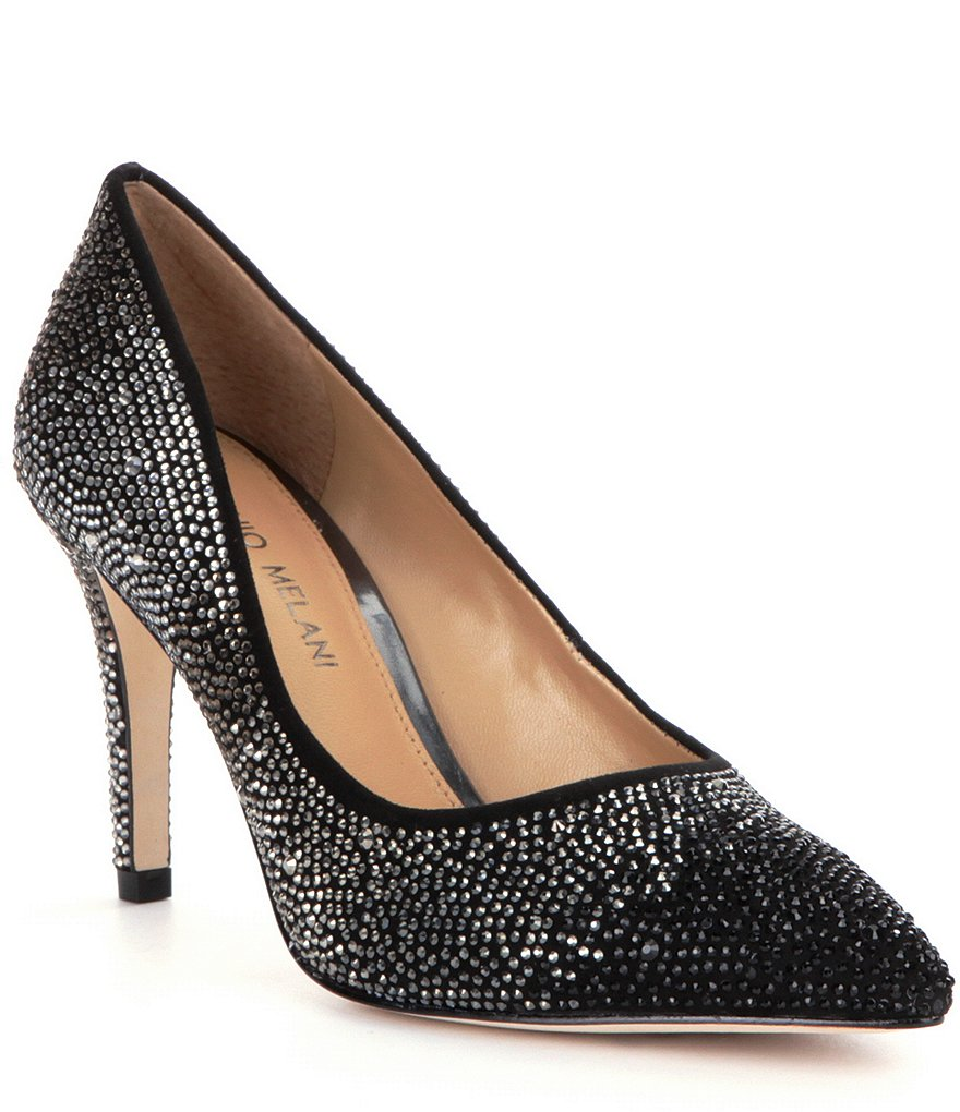 Antonio Melani McBeth Ombré-Jeweled Pointed-Toe Pumps