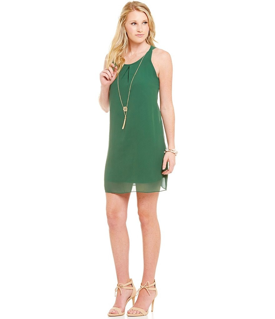 I.N. San Francisco Sleeveless Necklace Shift Dress