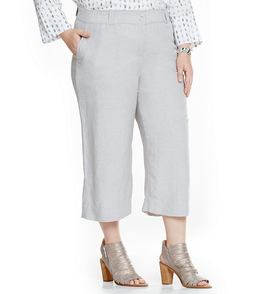 ZOZO Plus Linen Crop Pants