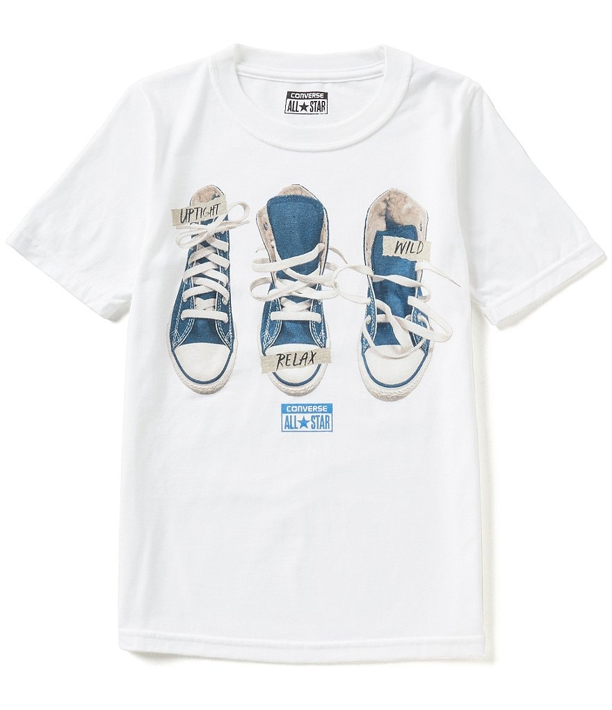 Converse Big Boys 8-20 Sneaker Personality Graphic Short-Sleeve Tee
