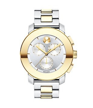 Movado Bold Iconic Two Tone Stainless Steel Chronograph Bracelet Watch