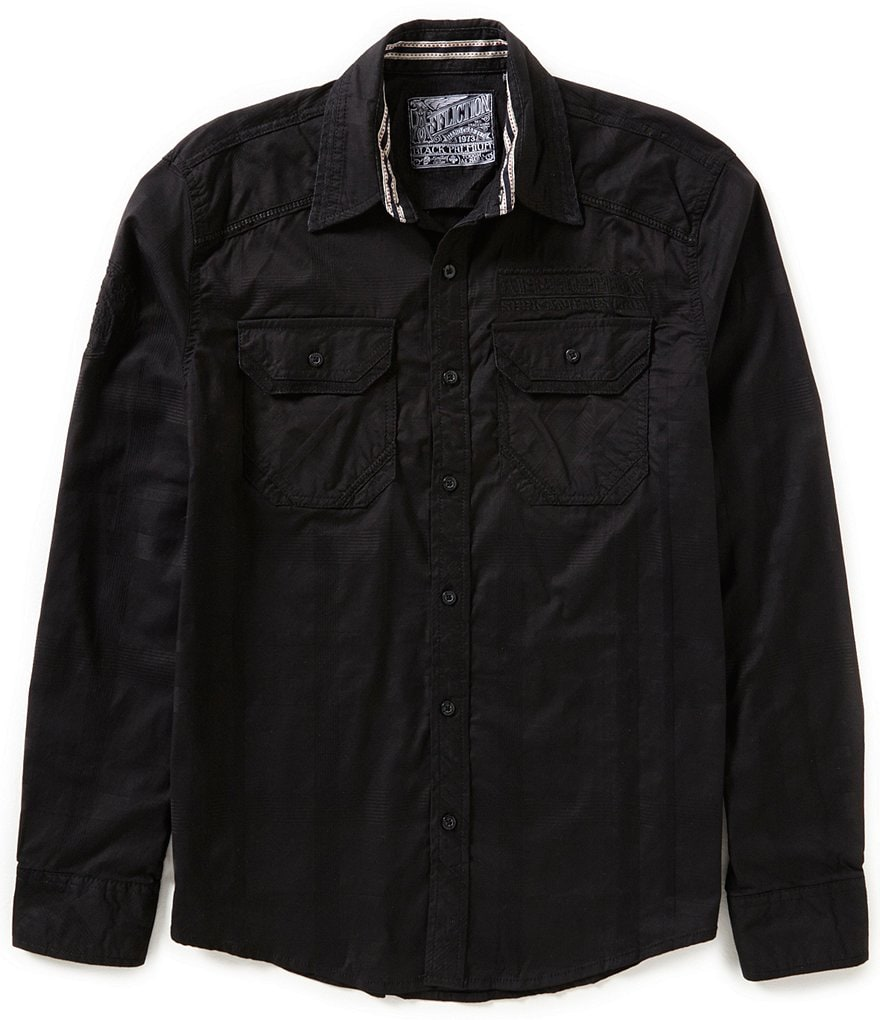 Affliction Insanity Embroidered Long-Sleeve Shirt