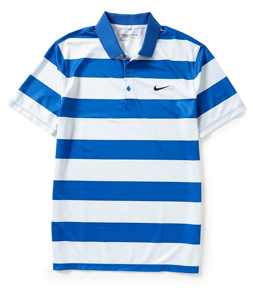 Nike Golf Short Sleeve Victory Bold Horizontal Stripe Polo