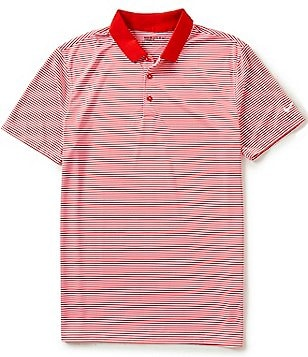 Nike Golf Short-Sleeve Victory Mini-Horizontal-Stripe Polo Shirt