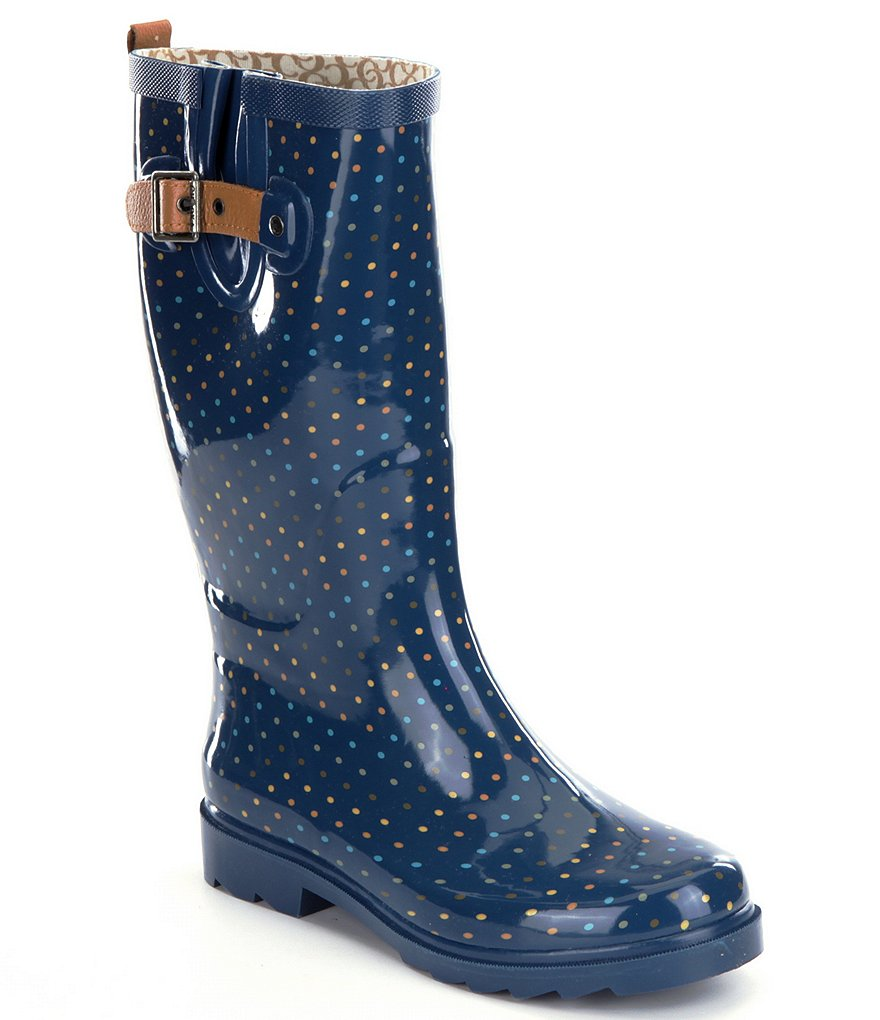 Chooka Chevron Dot Rain Boots