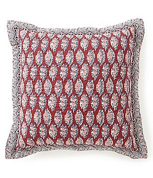 Studio D Lindsay Collection Embroidered Fringe Tel Pillow