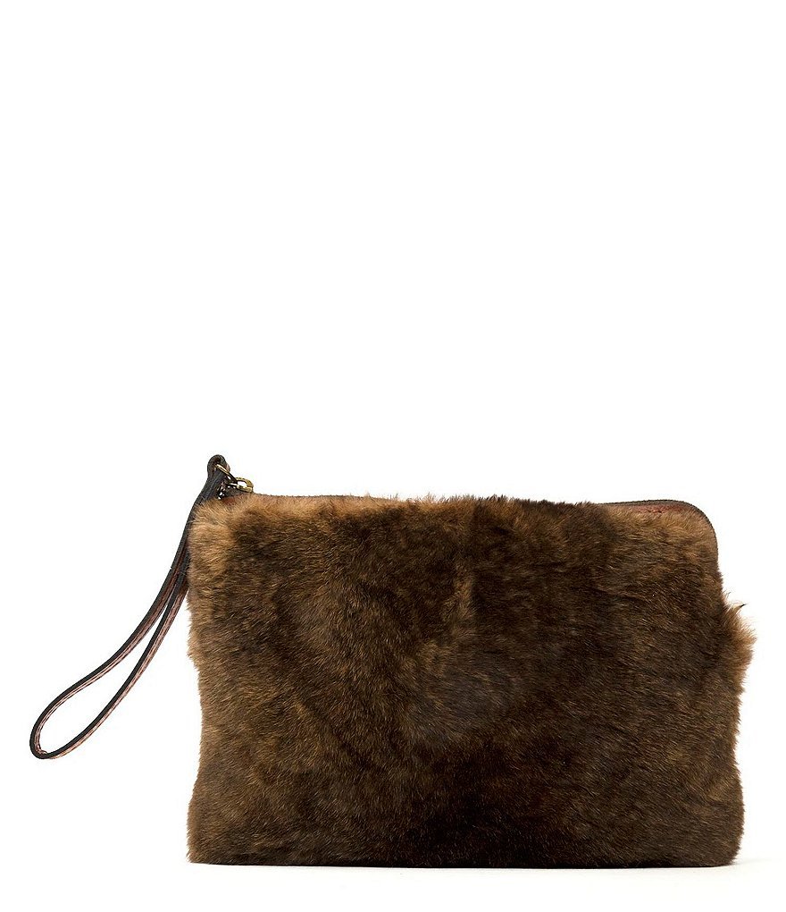 Patricia Nash Winter Fur Cassini Wristlet