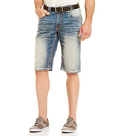Rock Revival Dan Destructed Denim Shorts