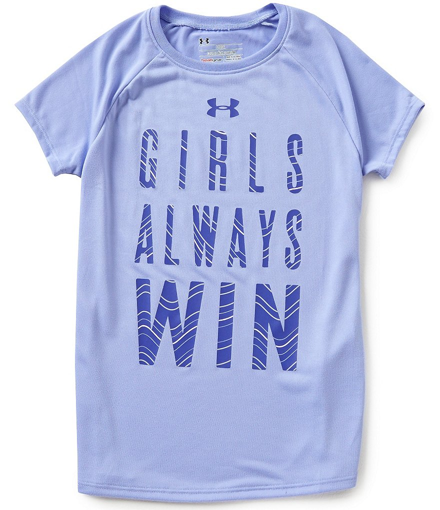 Under Armour Big Girls 7-16 Girls Always Win Graphic Tee