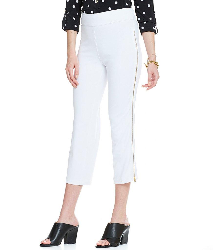 Nygard Slims Petite Side Zip Crop Pants