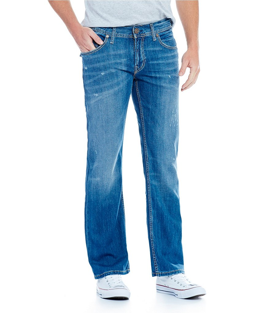 Silver Jeans Nash Straight-Fit Whiskered Jeans