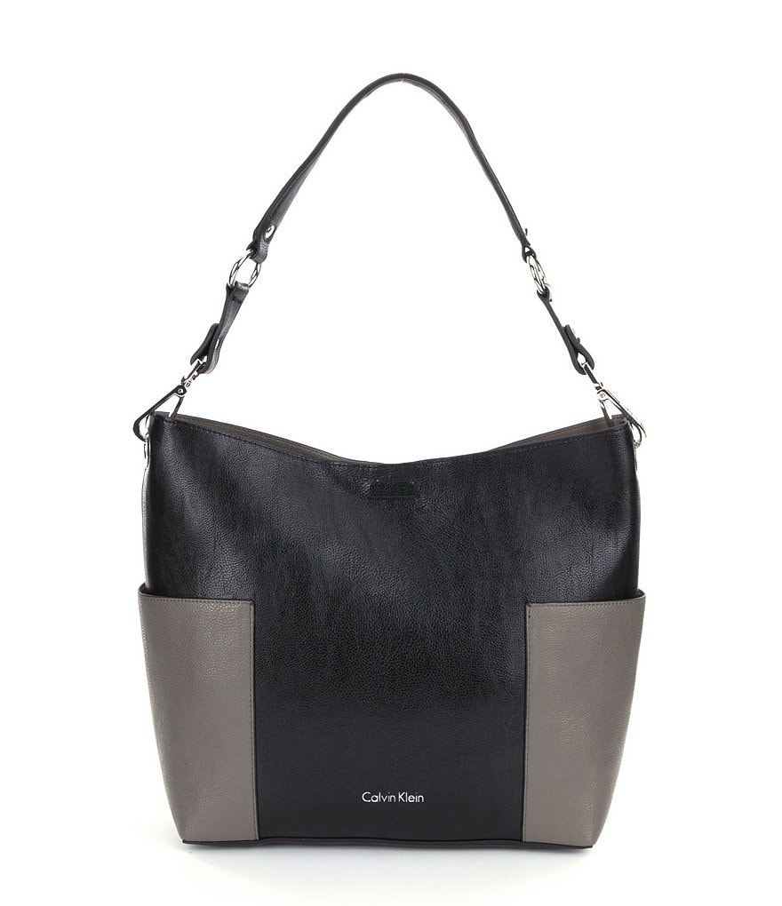 Calvin Klein Reversible Color Block Hobo Bag
