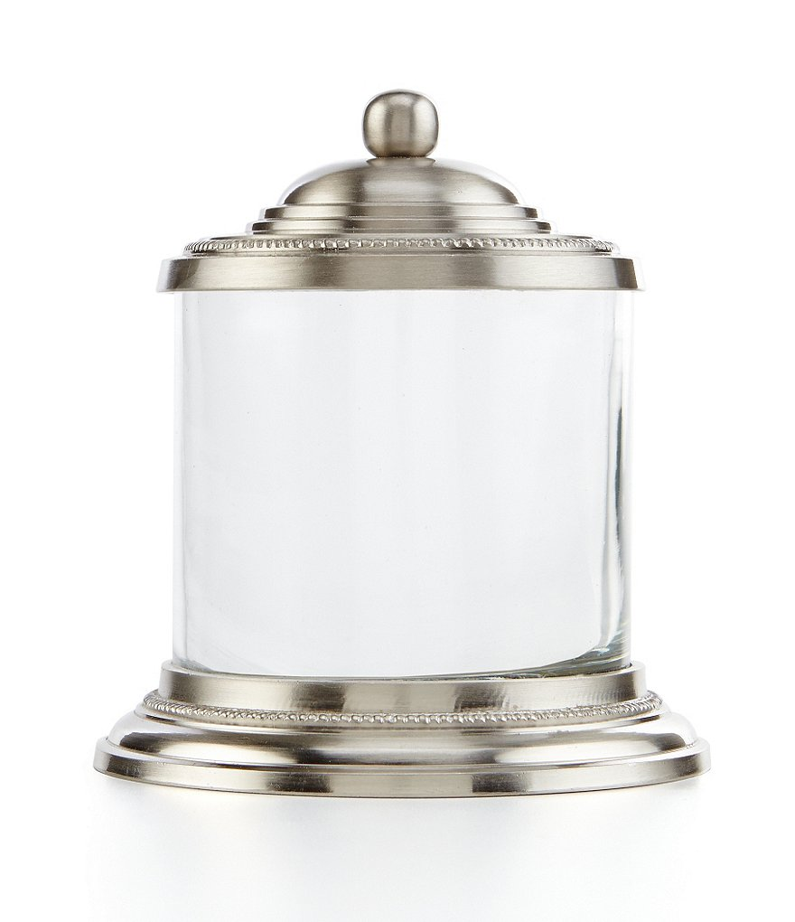 Southern Living Pewter Finish Glass Canister