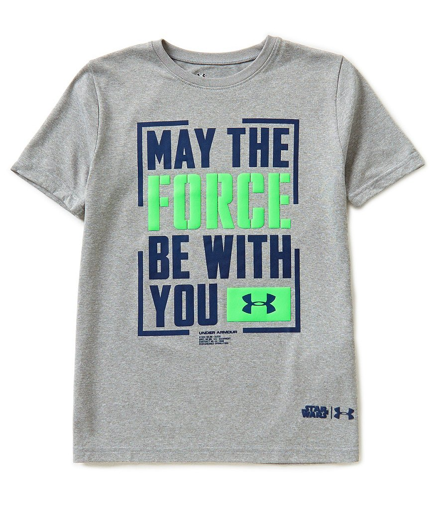 Under Armour Big Boys 8-20 Star Wars May The Force Be With You Tee