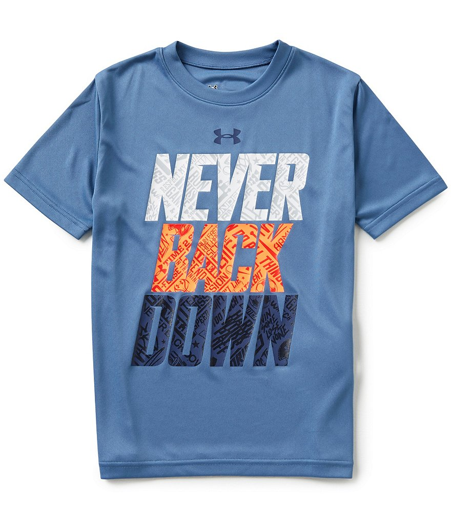 Under Armour Big Boys 8-20 Never Back Down Tee