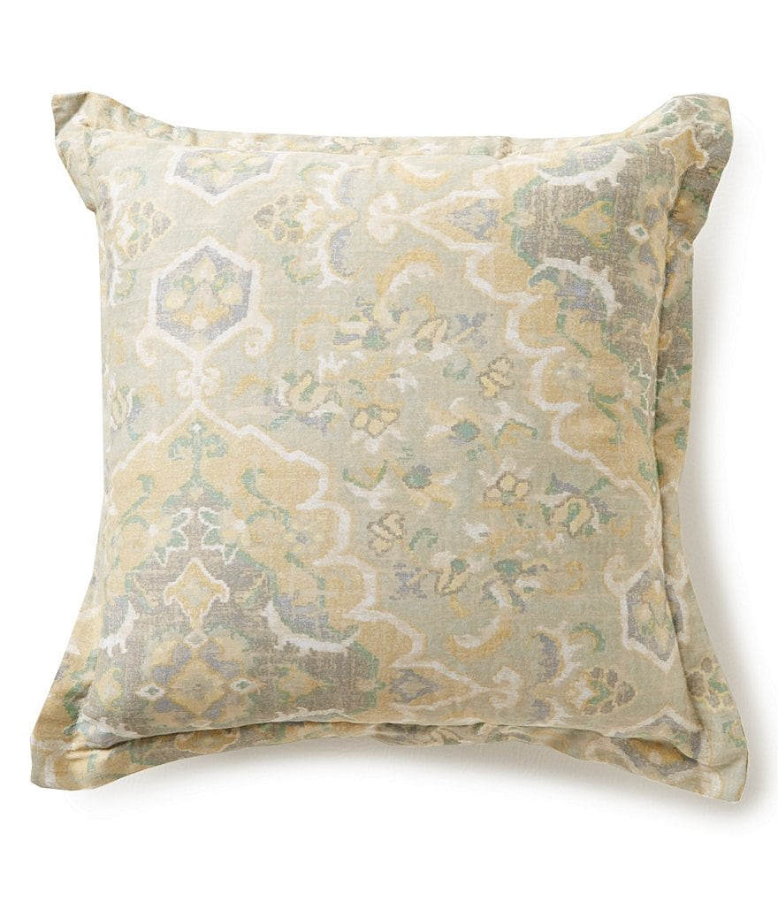Villa by Noble Excellence Messina Vintage Moroccan Medallion Square Pillow
