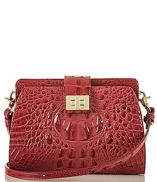 Brahmin Melbourne Collection Alena Croco-Embossed Cross-Body Bag
