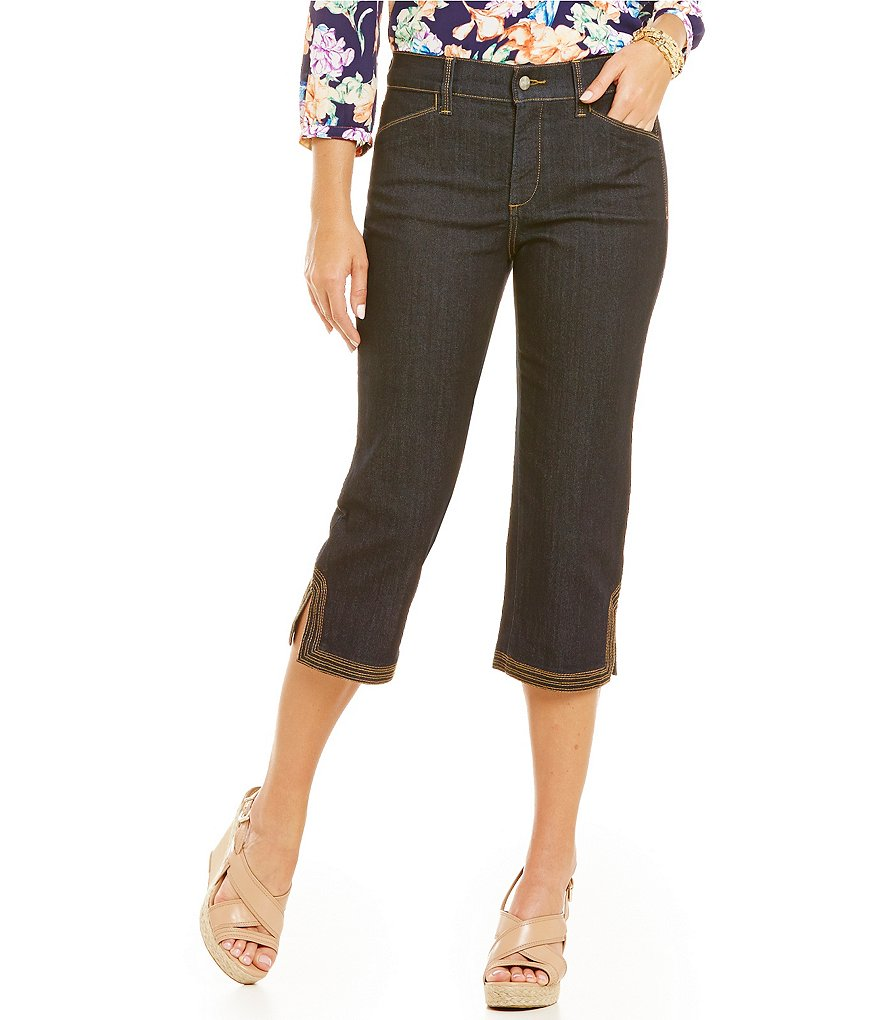 NYDJ Ariel Crop Jeans with Contrast Stitch