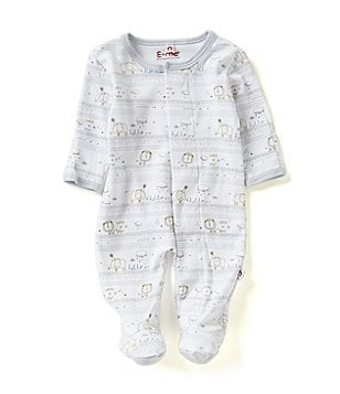 E=MC2 Baby Boys Preemie-3 Months Hello World Magnetic-Closure Footed Coverall