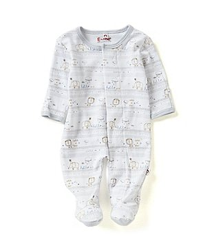 E=MC2 Baby Boys 6-9 Months Hello World Magnetic-Closure Footed Coverall