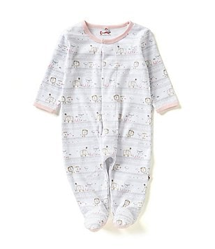 E=MC2 Baby Girls Preemie-3 Months Hello World Magnetic-Closure Footed Coverall