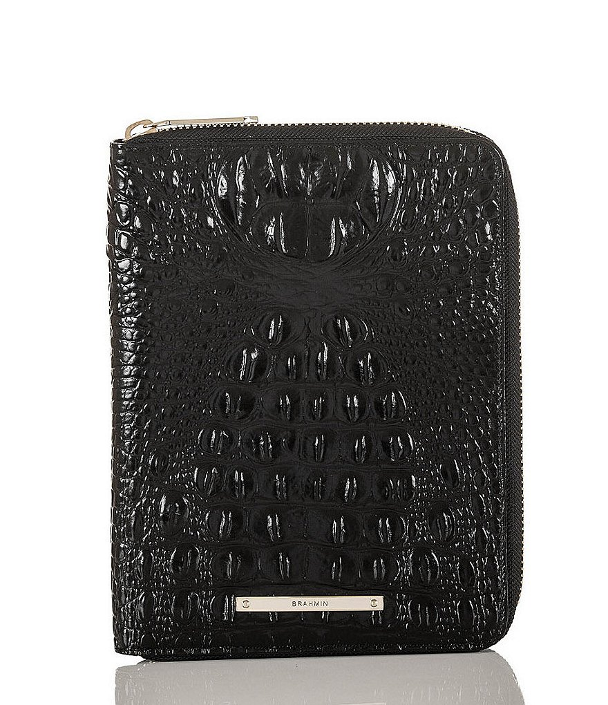 Brahmin Melbourne Collection Addison Zip-Around Leather Agenda with Notebook