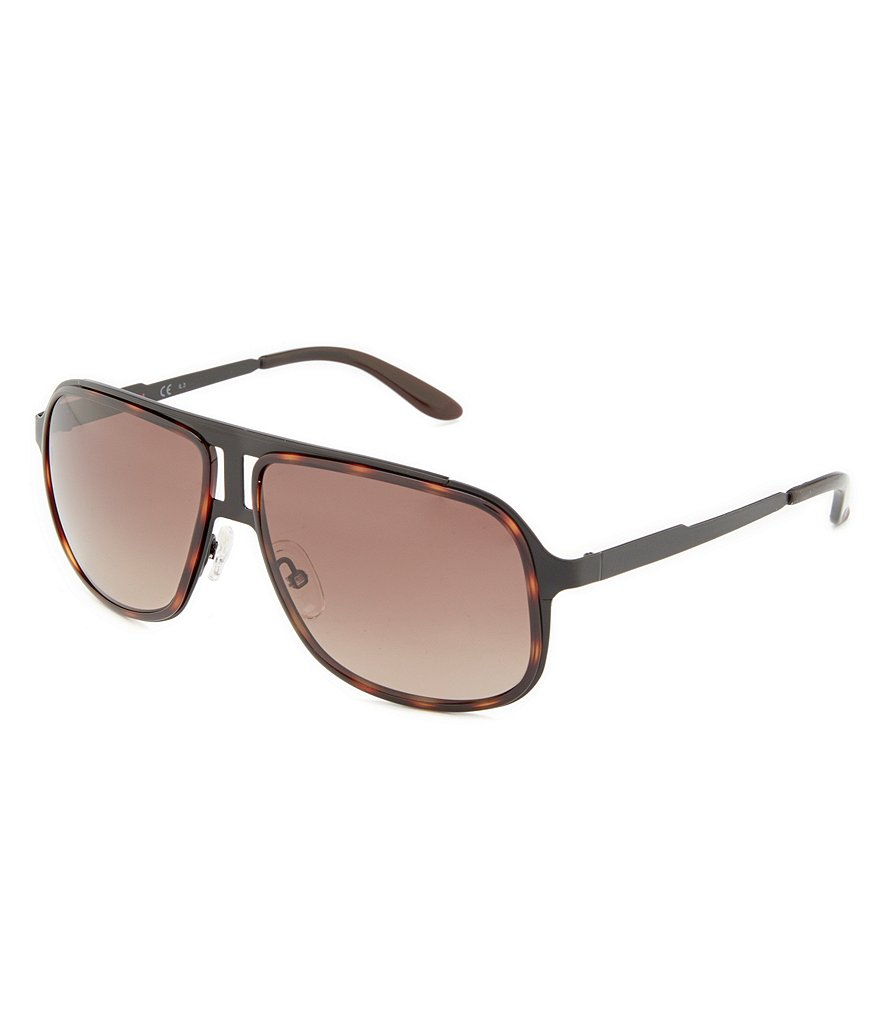 Carrera Mirrored Brow Bar Navigator Sunglasses